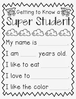 FREEBIE for starting SUPER student in your classroom! Blog