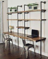 Industrial Desk and Shelf Unit 8' and 10' by BaxterHouse ...