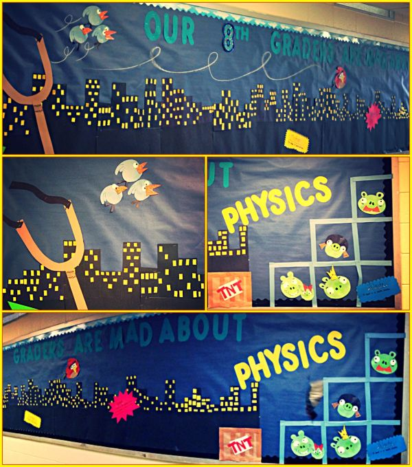 Angry Birds Bulletin Board Forces And Motion Science