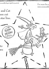 Color the Witch and make her fly with this free printable