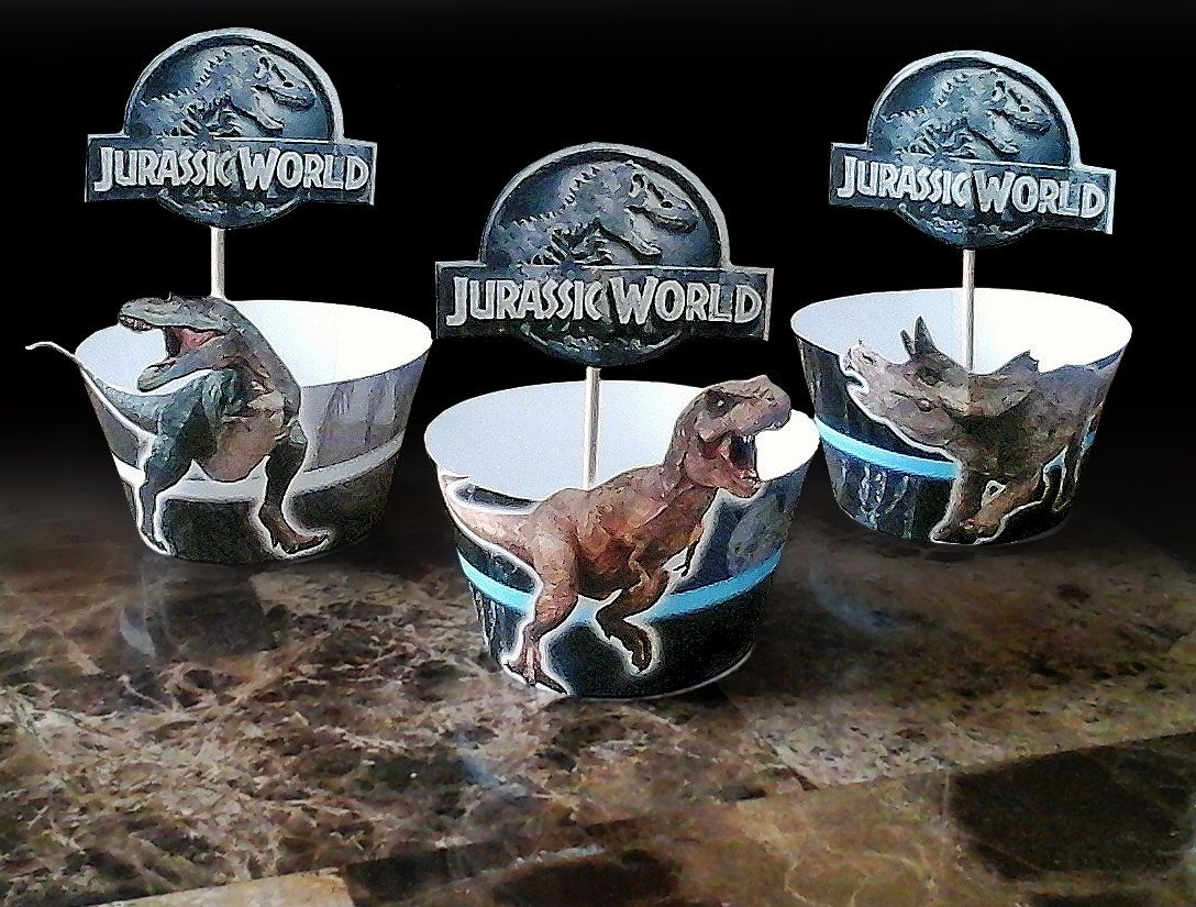 Jurassic World Cupcake Wrappers