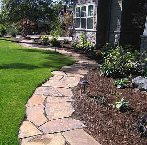 brick landscape ideas drg flagstone