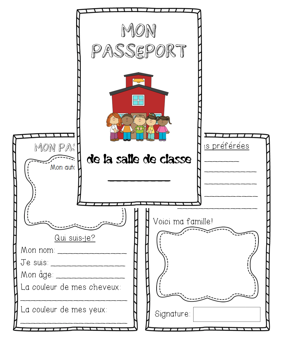 French All About Me Passport