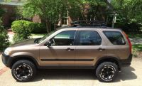 Lifted Honda CRV Baja style with Thule Canyon roof rack ...