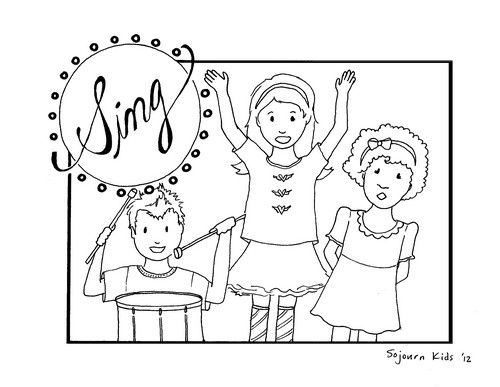 This coloring page is from day ___ of Clap Your Hands