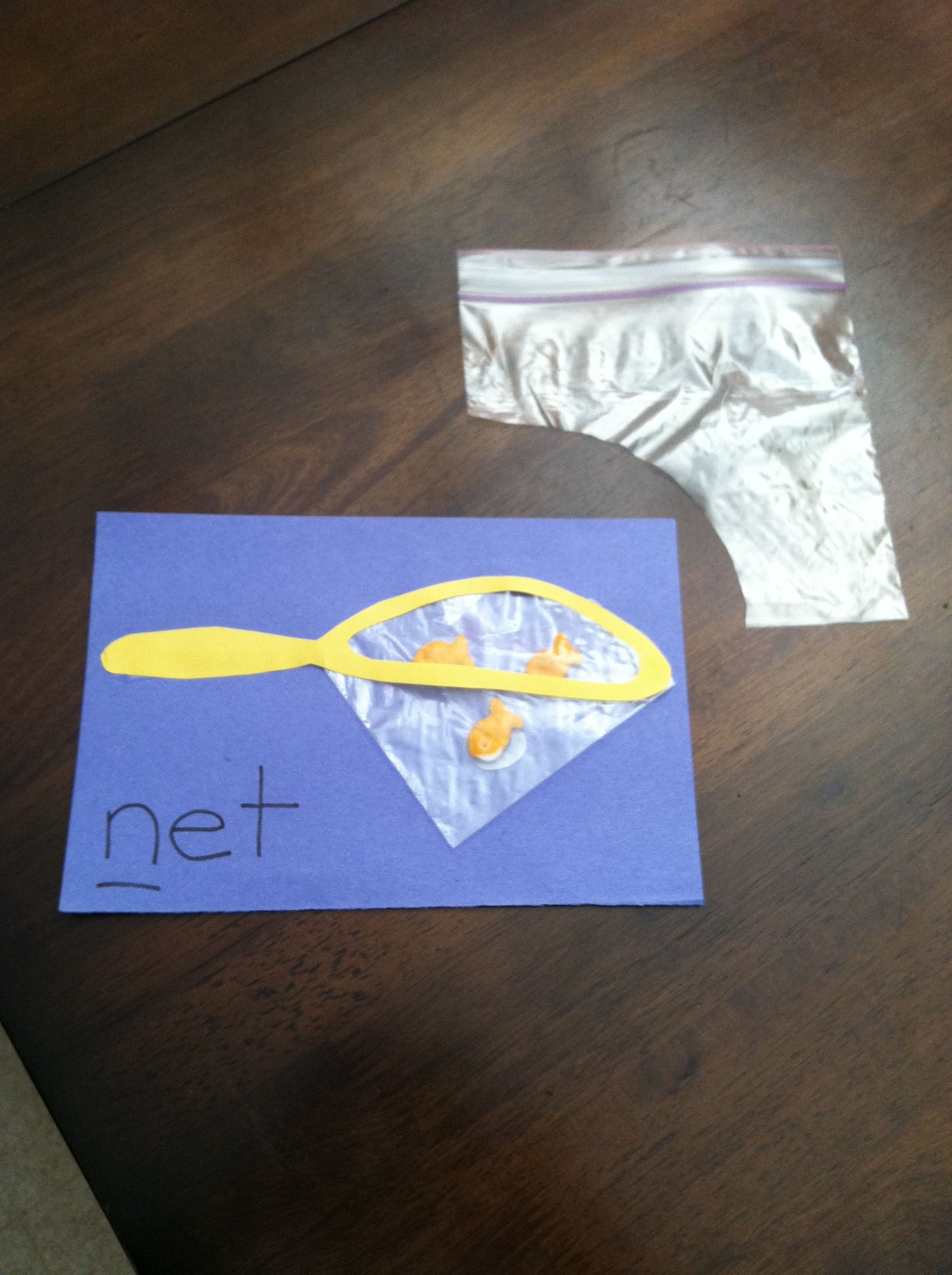 Letter N N Craft Made From Sandwich Bag Corner Craft Paper Amp Goldfish