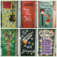 MCT2 Test door deco at school. 2012
