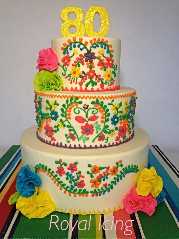 Mexican Fiesta Birthday Cake Work