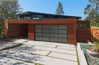 Modern Garage Home Plant Design Idea with Glass Door
