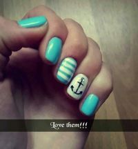 Nautical/Anchor nails for the cruise  | Nails | Pinterest ...
