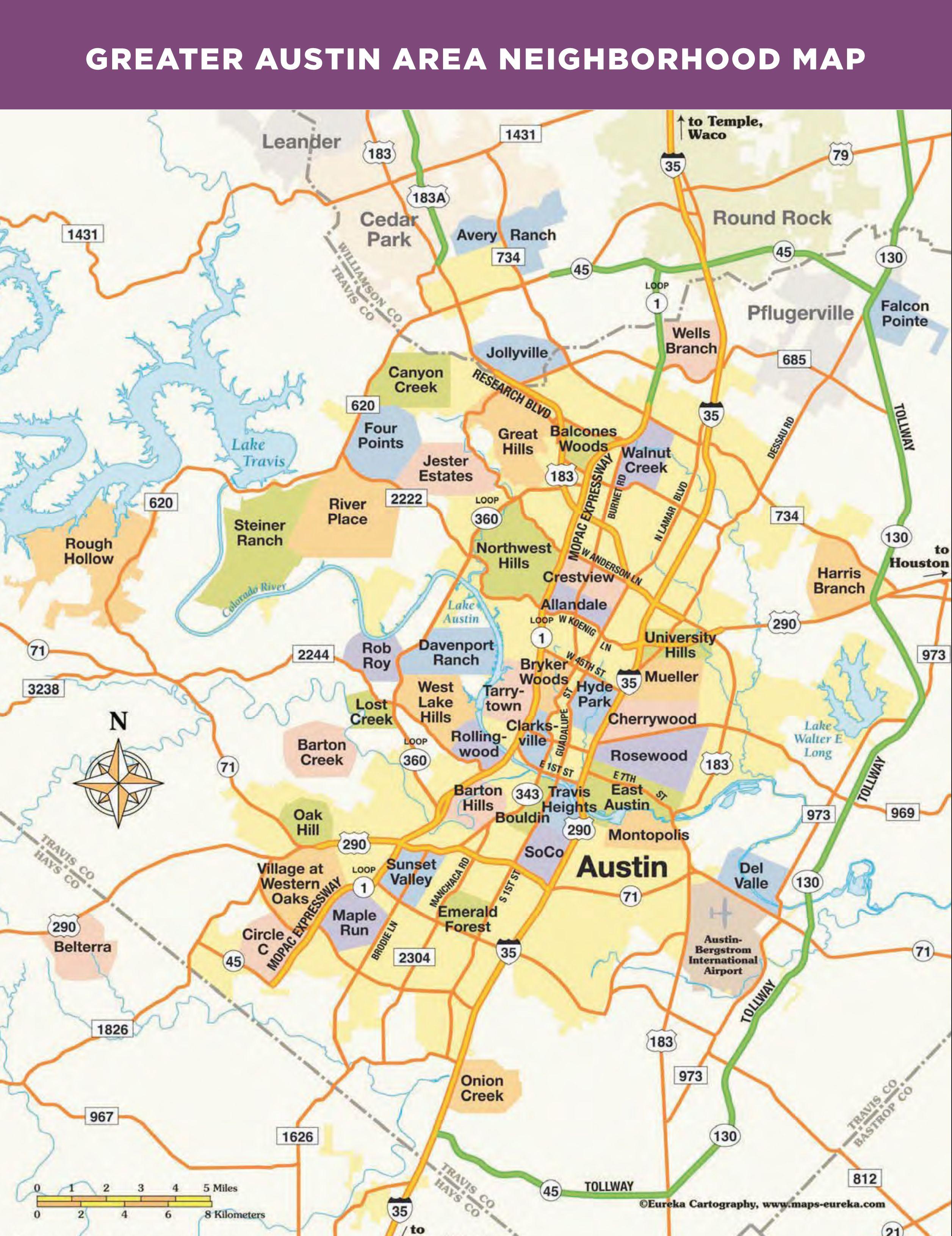 Greater Austin Zip Code Map