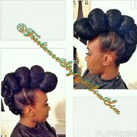 Kanekalon buns updo | Black Beauty | Pinterest | Bun updo ...