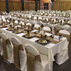Tablecloths And Chair Covers For Rent Office Zippay Burlap Table Runners Sashes Ivory