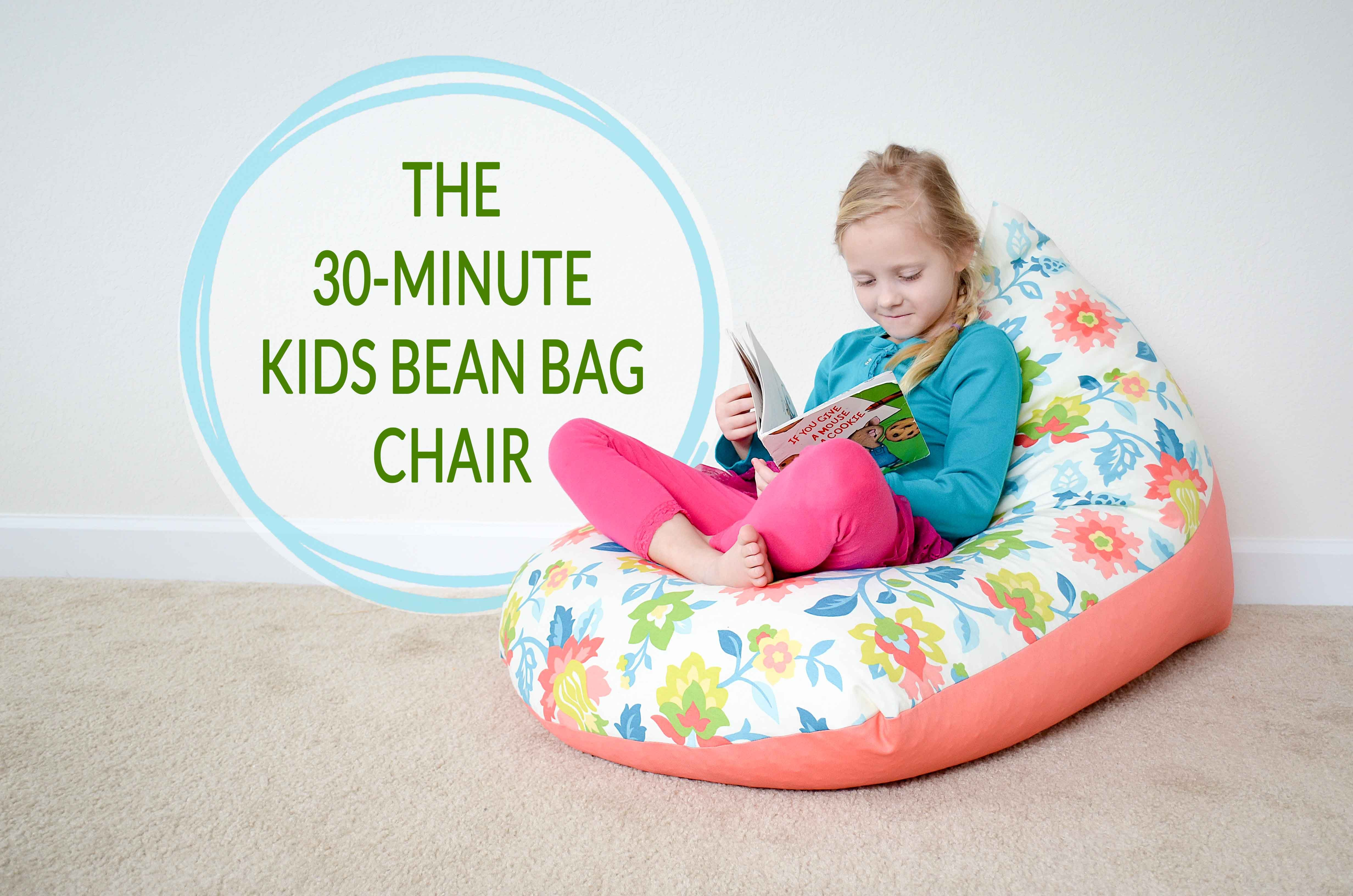 no sew bean bag chair camp with footrest a kids in 30 minutes