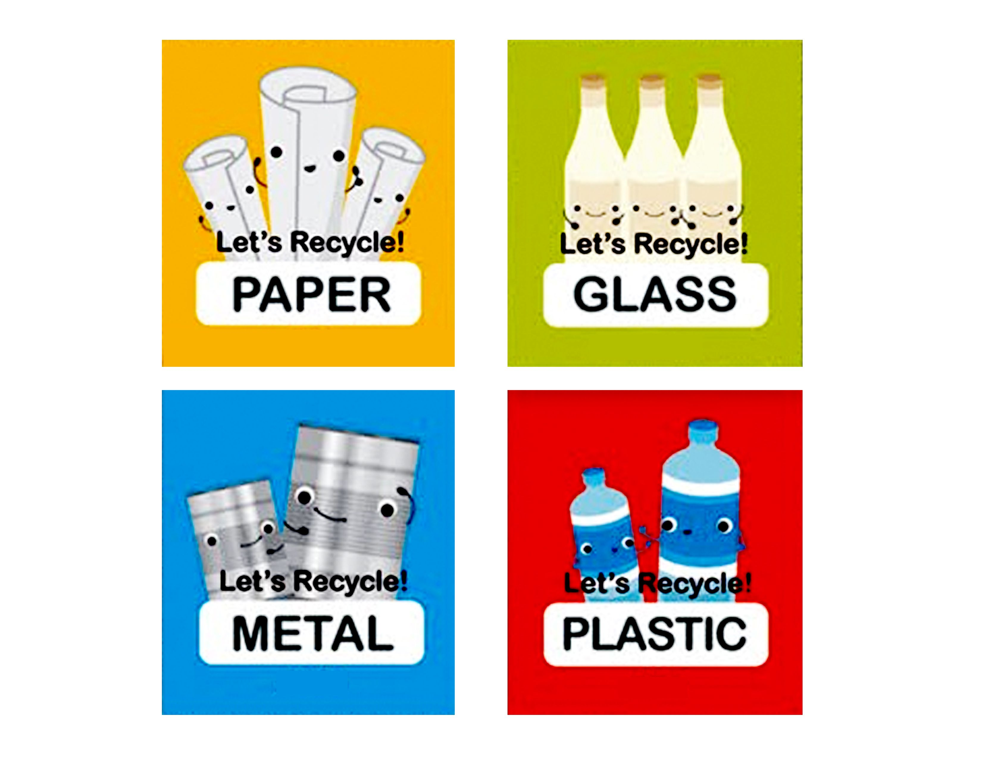 Printable Recycling Labels For Preschool Starlight