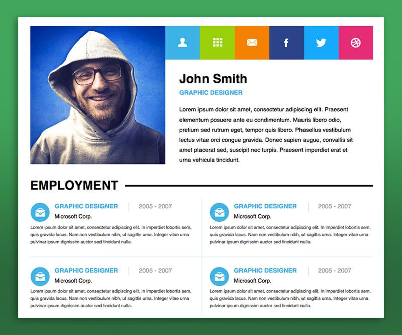 Personal Resume Website Examples  Personal Website