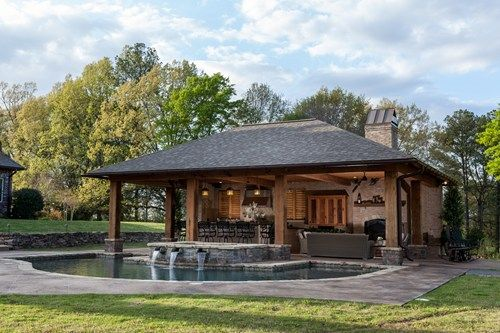 Rustic Pool House In Mississippi Kamin Jashte Pinterest Pool