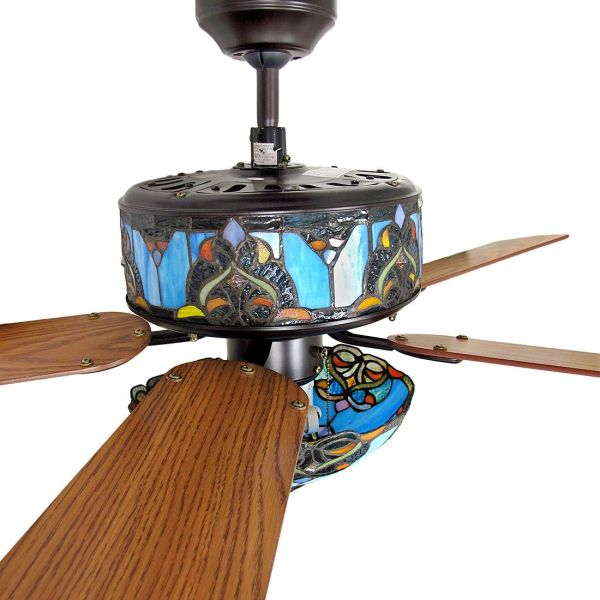Ceiling Fans With Stained Glass Details