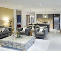 Open plan lounge and kitchen. Lounge room, living room ...