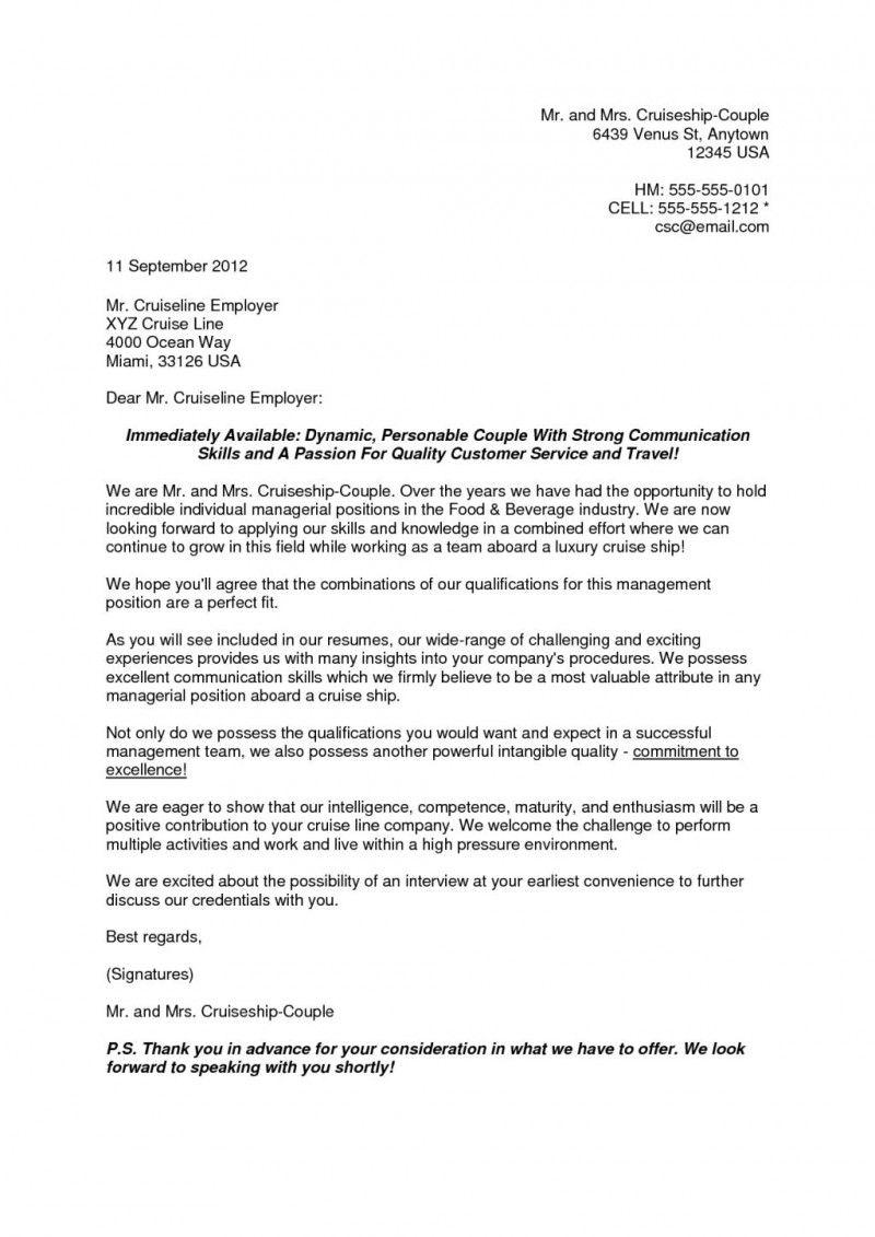 Resume Cover Letter Cruise Ship Letter Pinterest Resume