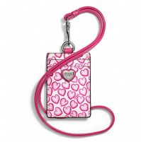 NWT Coach Heart Print Lanyard ID Badge Holder Case | Badges