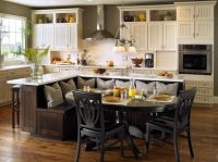 Kitchen Bench Ideas, Built In Kitchen Island With Seating