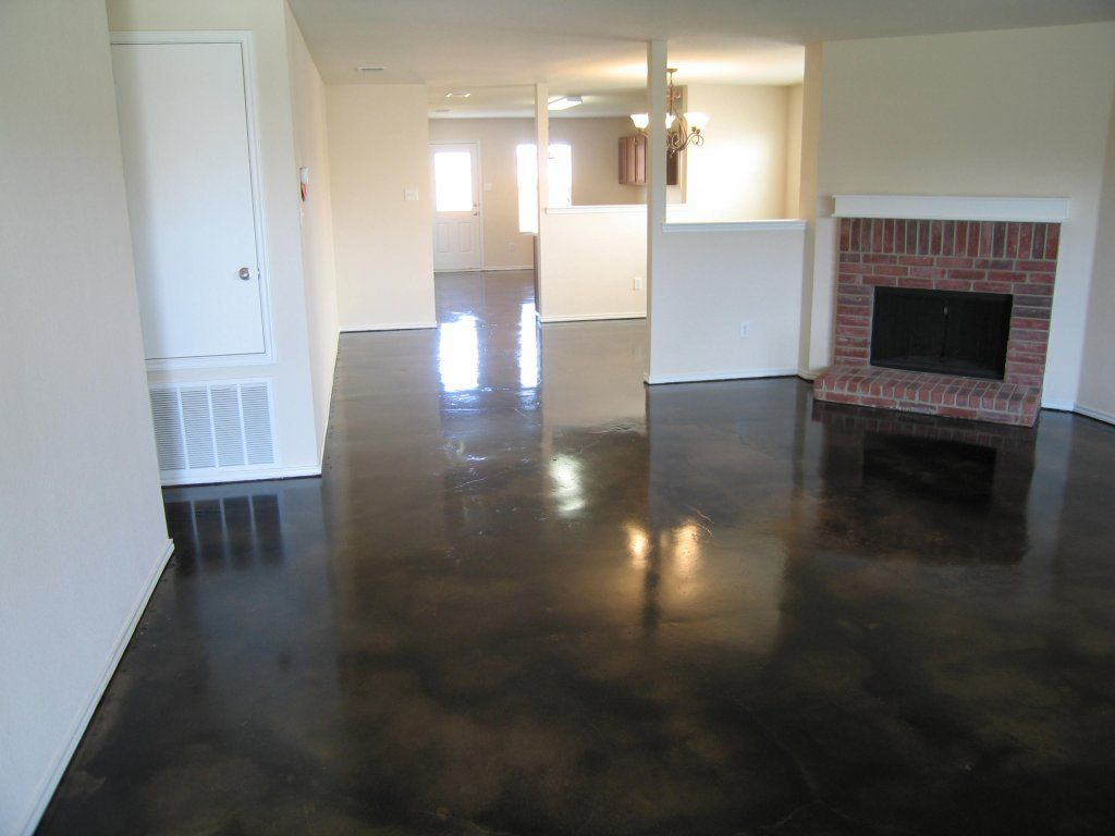 Dark Stained Concrete Floor