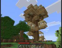 Super cool tree house!!!! Minecraft!!    ...