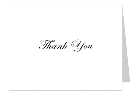 Free Thank You Card Template Simple No background, Word