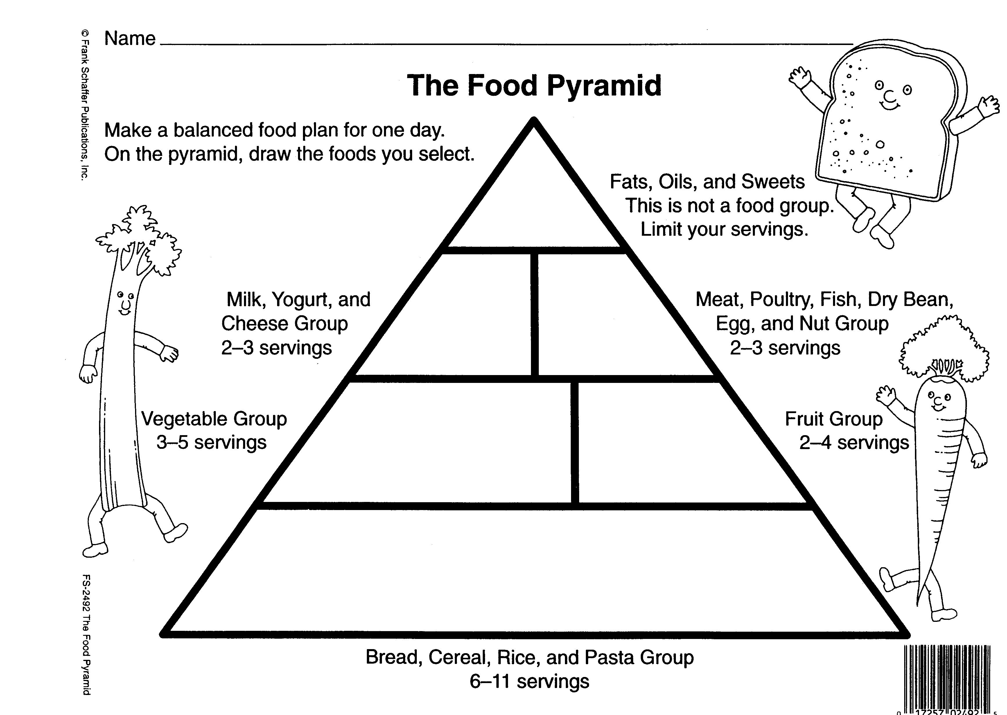 Printable Blank Food Pyramid Chart