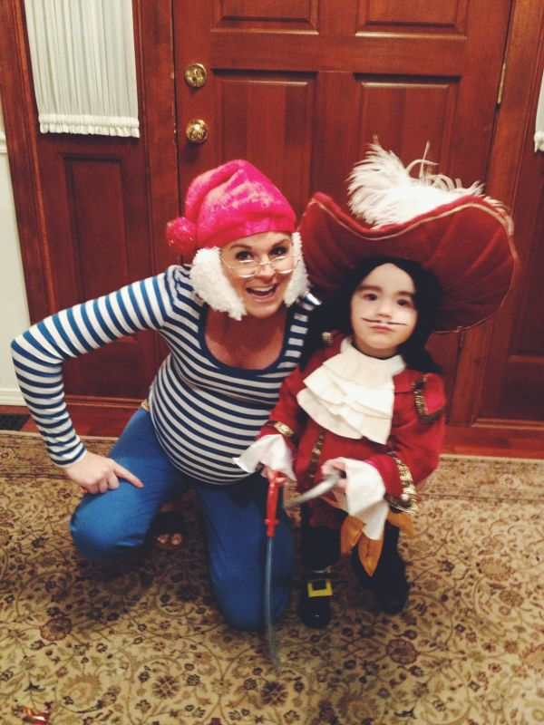 Captain Hook And Smee Costume Tickle Trunck