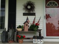 My country porch done in Americana | My country home ...