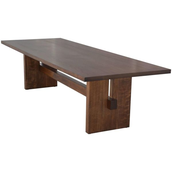 Black Walnut Trestle Table Tables Dining Room