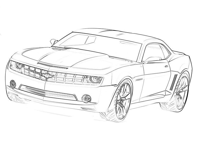 Transformers Car Sketch,http://colorasketch.com