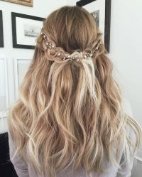 Lauren Conrad Blonde Ombre Half Up Half Down Wavy Long ...
