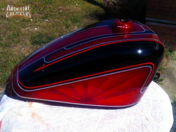 Custom Motorcycle Tank Paint - Year of Clean Water