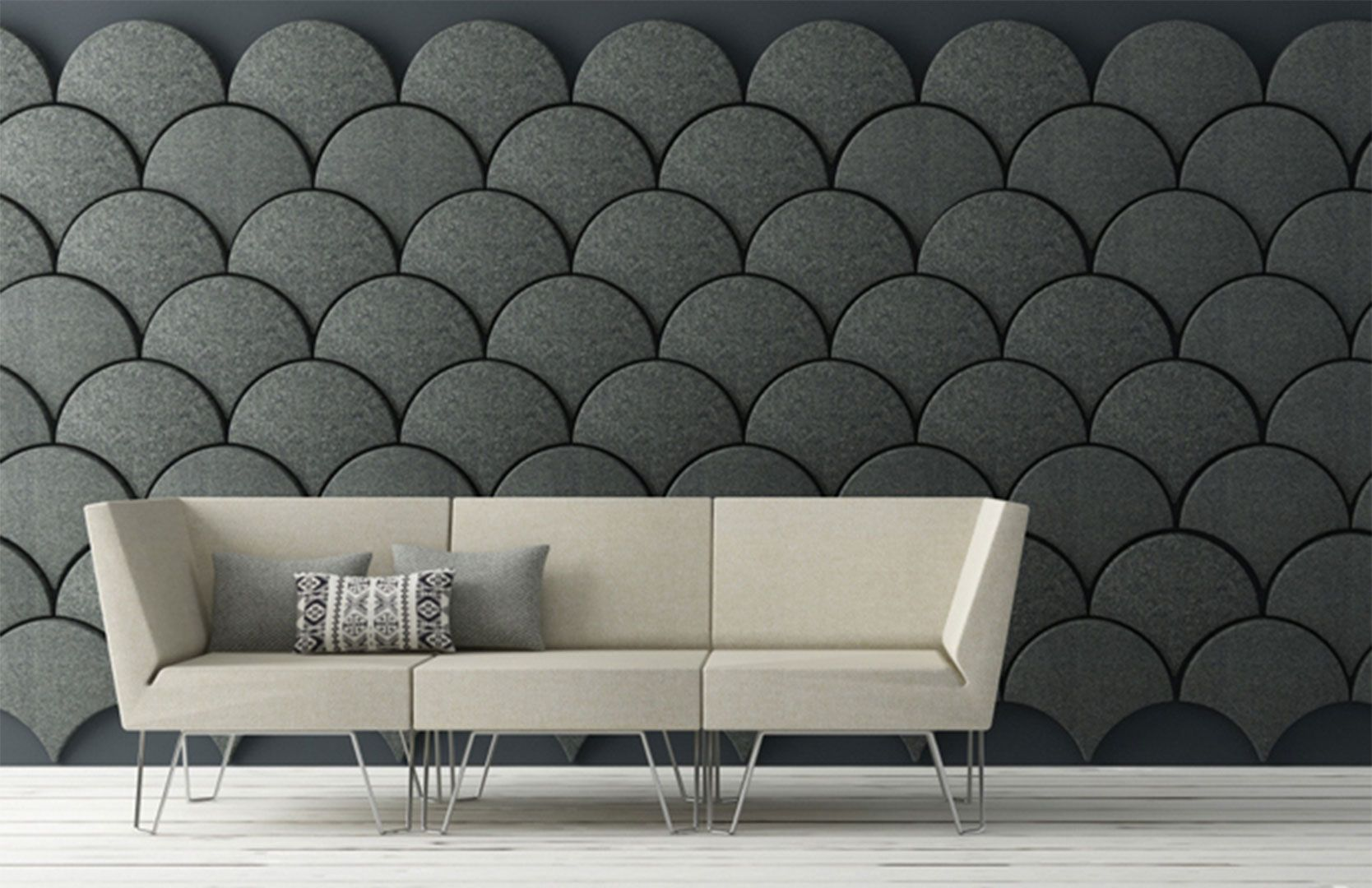 Unique Grey Wall Design Ideas Combined With Sweet Small Couch With