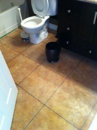 Indoor Concrete Overlay ( Travertine Tile look) | Concrete ...