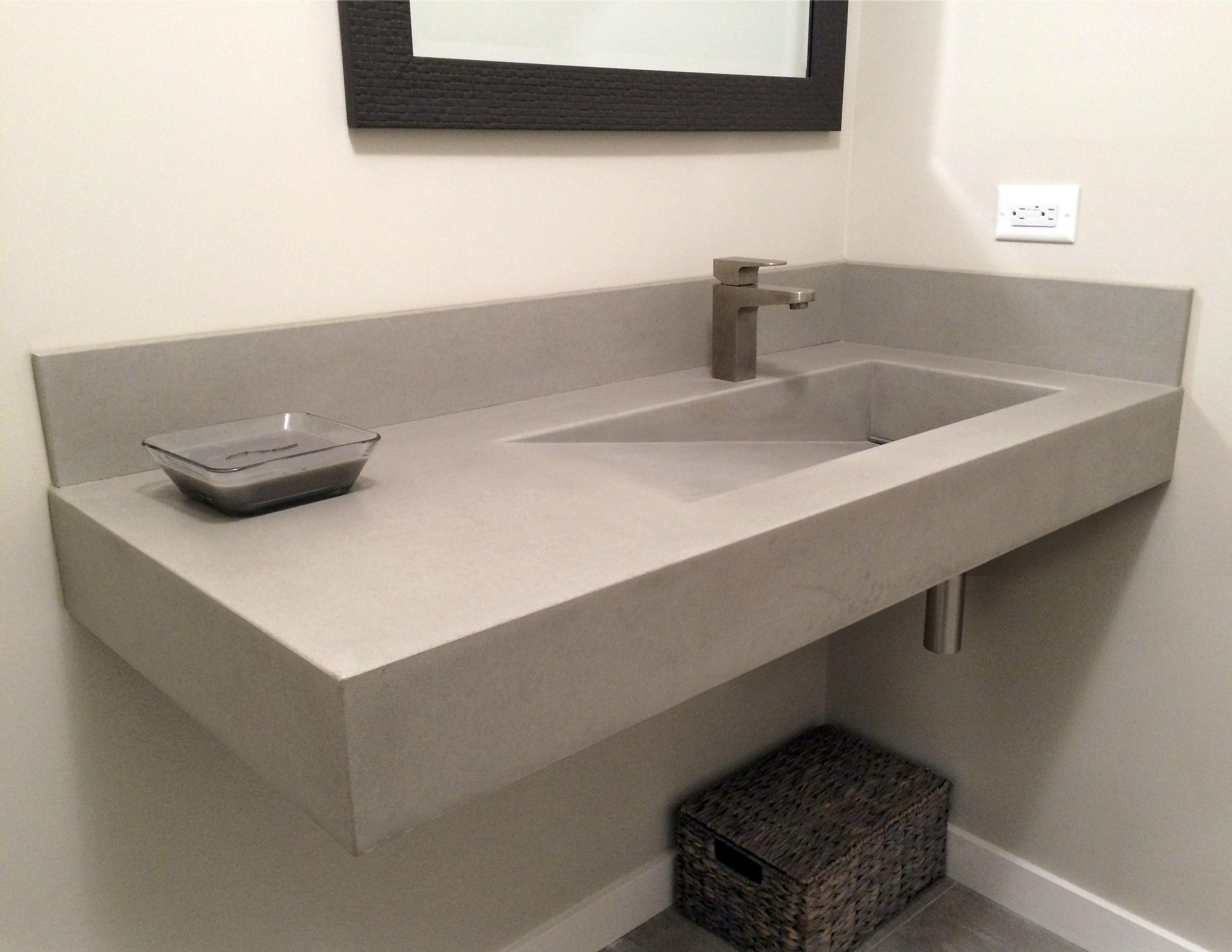 Mosaic Tile Bathroom Sink Square Concrete