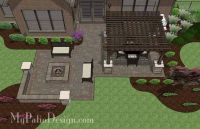 Fun Fire Pit Patio Design with Pergola 2 | For the Home ...