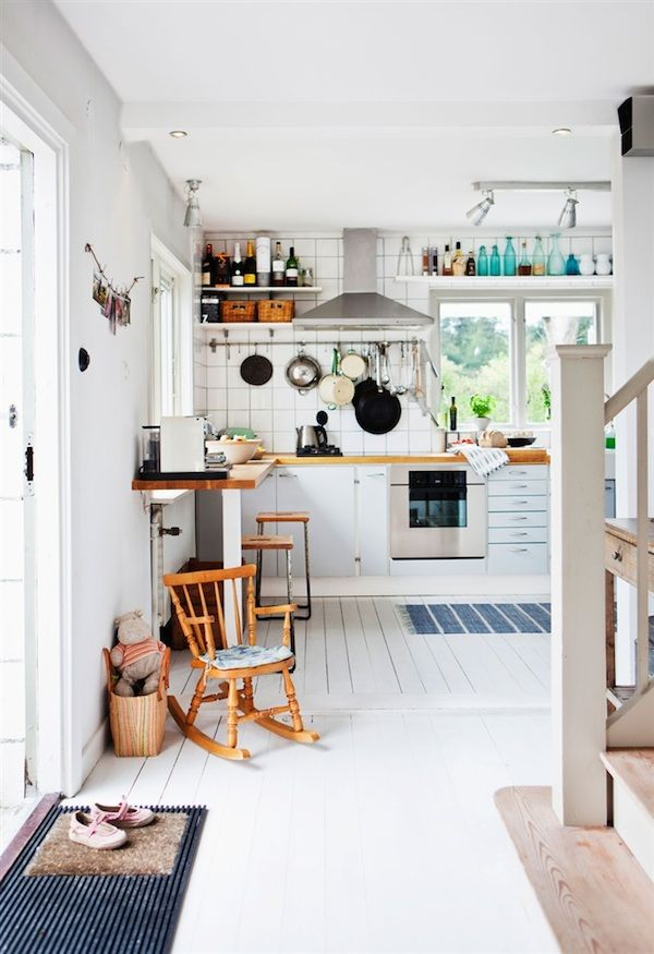 A swedish family home in summer time