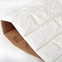 2.6' x 2.3' Peel and Stick 3D Wall Panels White Brick ...