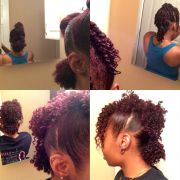 natural hairstyles ponytails