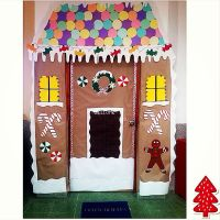 gingerbread house classroom door christmas classroom door ...