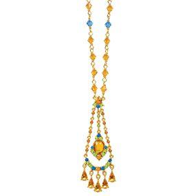 Jeweled Chandelier Pendant Necklace
