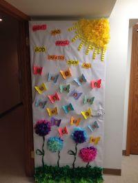 spring door decoration | Bulletin Board ideas | Pinterest ...