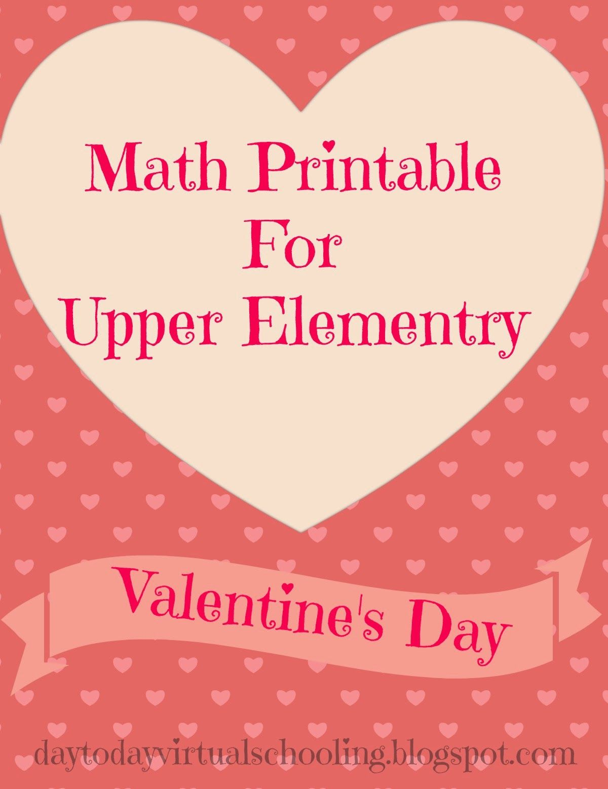 A Free Fun Math Worksheet For Upper Elementary Students