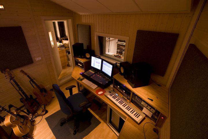Control Room In A Home Recording Studio 20 Home Recording