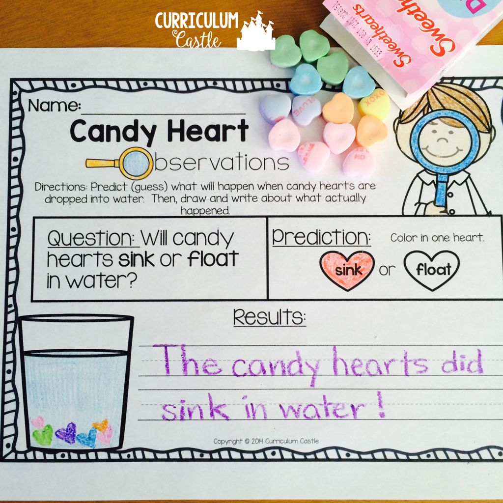 Free Candy Conversation Heart Science Experiment And