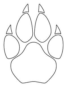 Cougar paw print pattern. Use the printable outline for